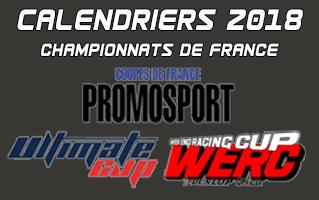 Calendrier 2018 des Championnats de France